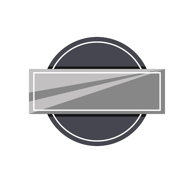 Banner de etiqueta metálica