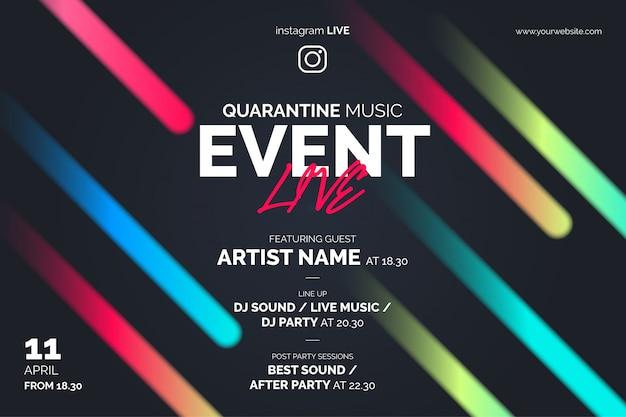 Banner de evento de música