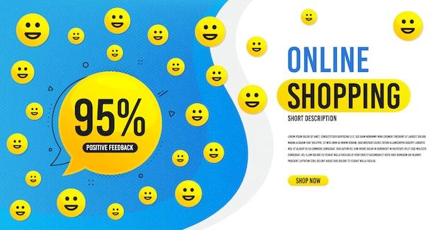Banner de feedback de compras online