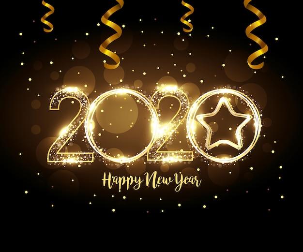 Banner de feliz ano novo 2020