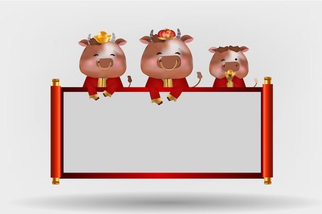 Banner de feliz ano novo chinês de 2021