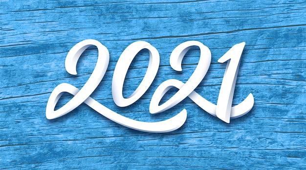 Banner de feliz ano novo de 2021
