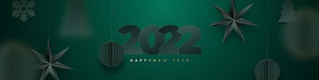 Banner de feliz ano novo de 2022