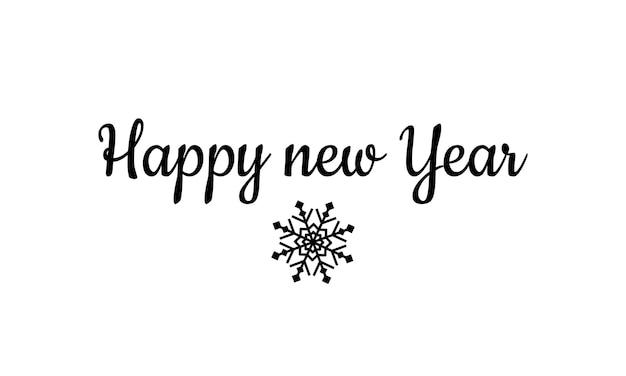 Banner de feliz ano novo. floco de neve. conceito de natal. vetor em fundo branco isolado. eps 10.
