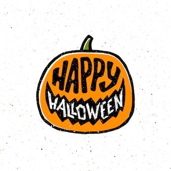 Banner de feliz dia das bruxas vintage com tipografia