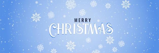 Banner de feliz natal com fundo de neve