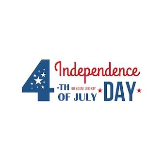 Banner de feriado dos estados unidos da américa de 4 de julho