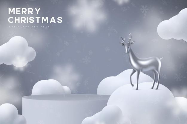 Banner de férias de natal.