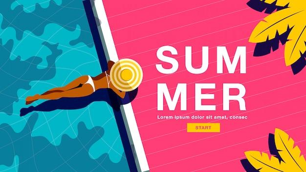 Banner de férias de verão