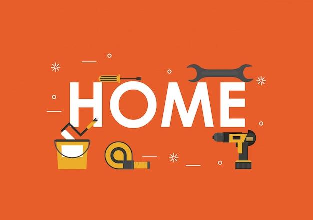 Banner de ferramentas para casa