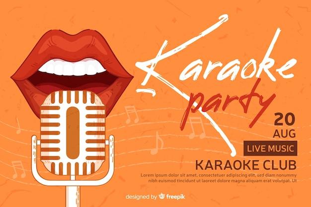 Banner de festa criativa para karaoke