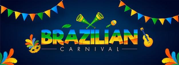 Banner de festa de carnaval do brasil