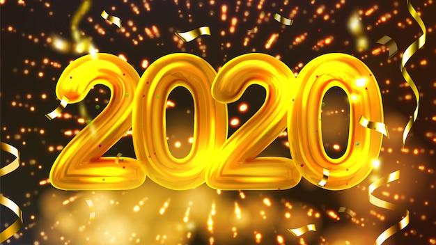 Banner de festa de férias de natal feliz de 2020