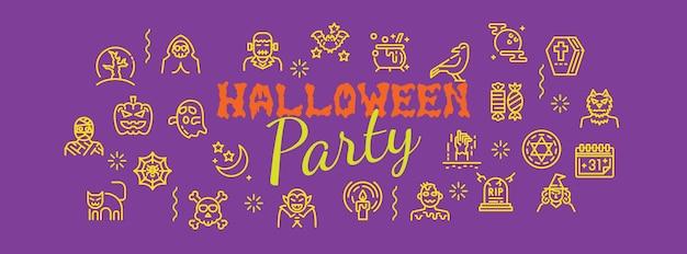 Banner de festa de halloween