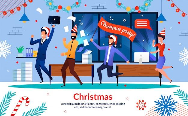 Banner de festa de natal de funcionários da empresa