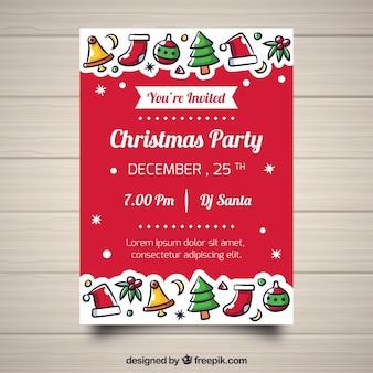 Banner de festa de natal