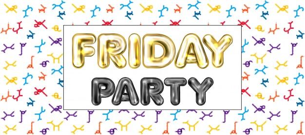 Banner de festa de sexta-feira
