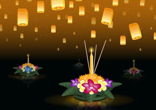 Banner de festival de luzes