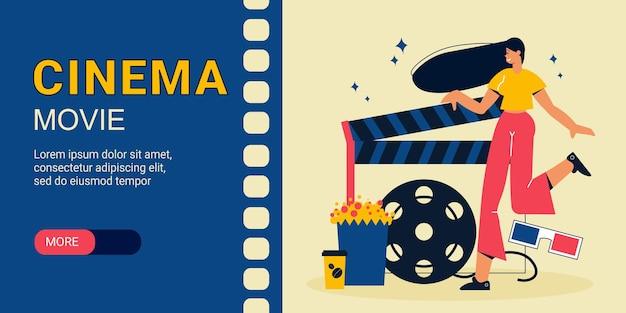 Banner de filme de cinema