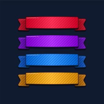 Banner de fita desenho animado