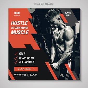 Banner de fitness instagram