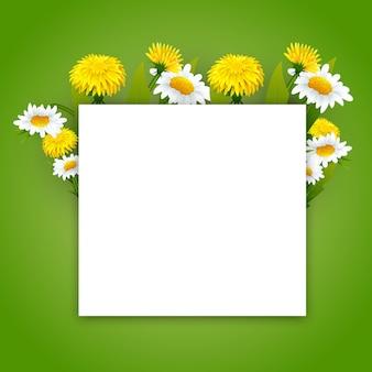 Banner de flores de verão