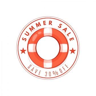 Banner de flutuação de verão