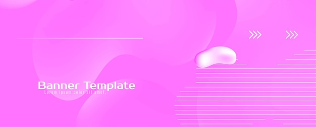 Banner de fluxo de líquido colorido abstrato