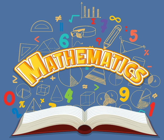 Banner de fonte de matemática isolada
