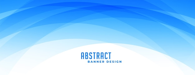 Banner de formas curvas em azul abstrato