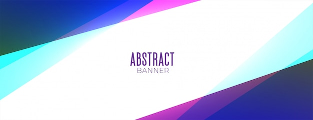 Banner de fundo abstrato colorido estilo geométrico com espaço de texto