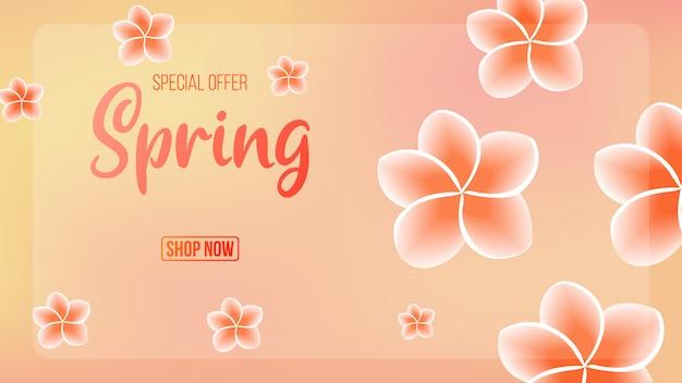 Banner de fundo de venda de primavera