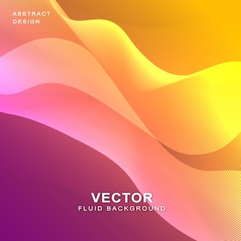 Banner de fundo fluido ondulado colorido