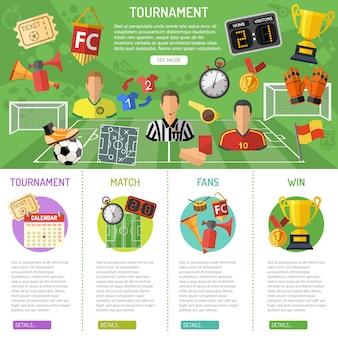 Banner de futebol e infográficos