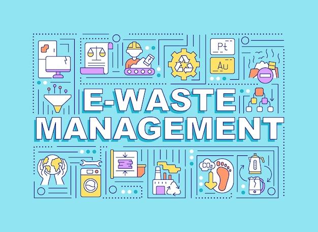 Banner de gerenciamento de resíduos
