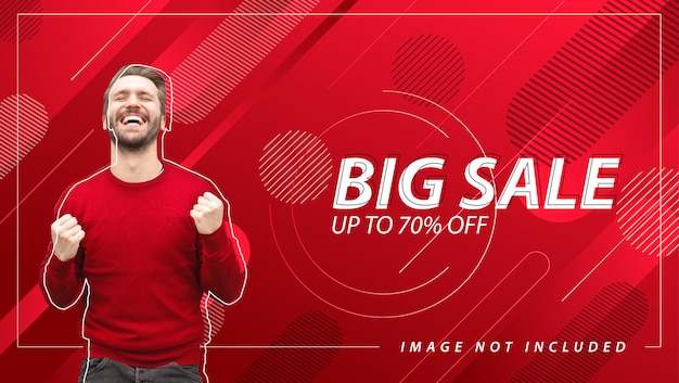 Banner de grande venda com fundo abstrato