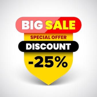 Banner de grande venda de oferta especial.