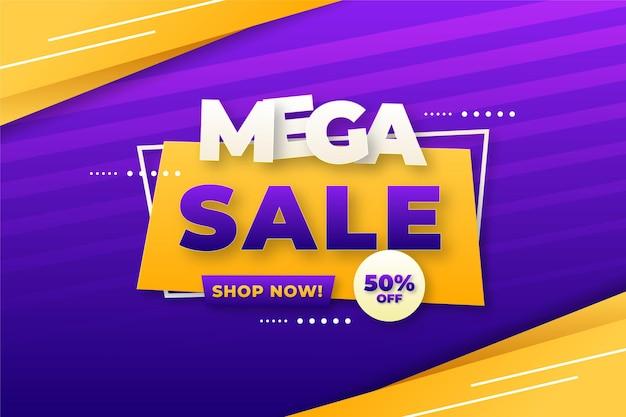 Banner de grande venda e oferta de plano de fundo com efeitos de texto editáveis