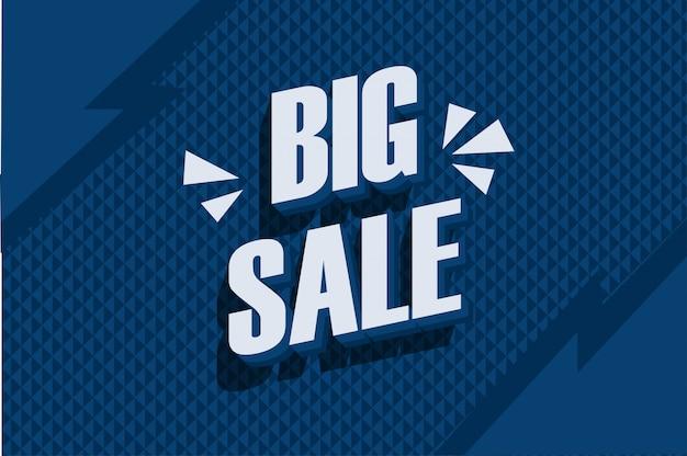 Banner de grande venda na cor azul clássico
