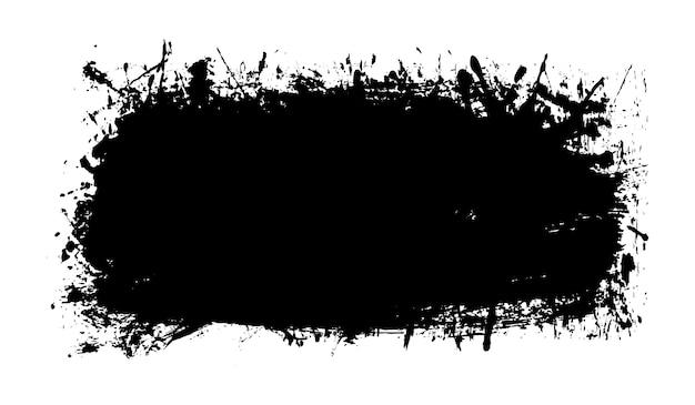 Banner de grunge abstrato com salpicos