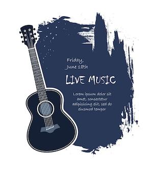 Banner de guitarra acústica