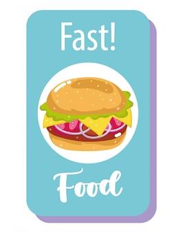Banner de hambúrguer de fast-food