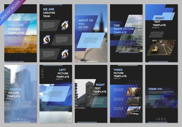 Banner de histórias de redes sociais criativas