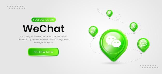 Banner de ícones de mídia social em que conversamos