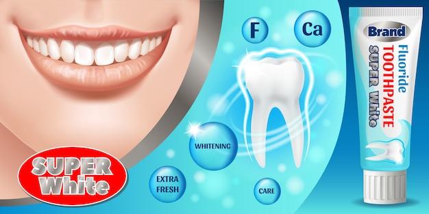 Banner de ilustração de pasta de dente