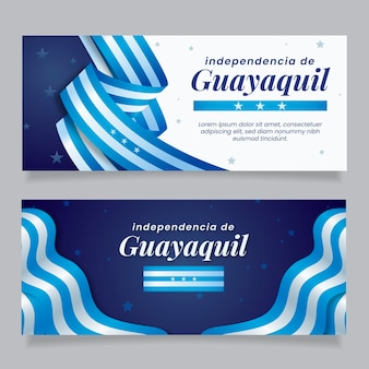 Banner de independência de guayaquil realista