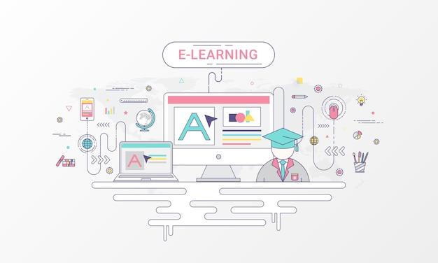 Banner de infográfico de aprendizagem