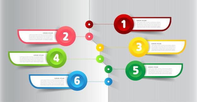 Banner de infográficos de modelo de caixa de texto de linha do tempo moderna