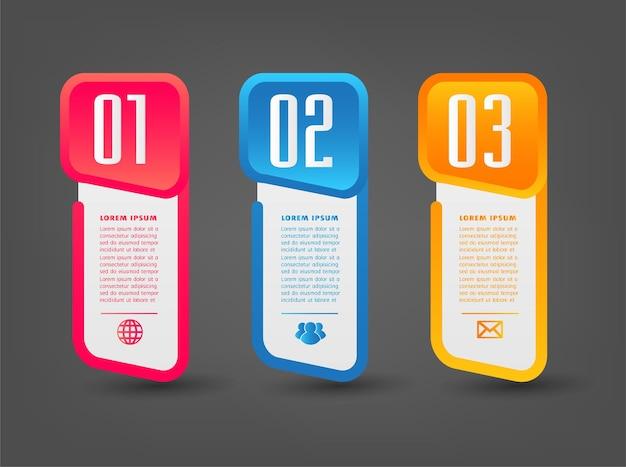 Banner de infográficos de modelo de caixa de texto moderno