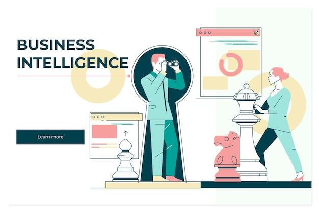 Banner de internet e rede de tecnologia empresarial